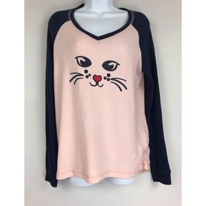 Make+Model Cat Face Pajama Top S